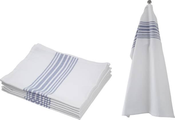 Flipkart SmartBuy Striped Kitchen Towels 12 pcs Blue, White Napkins