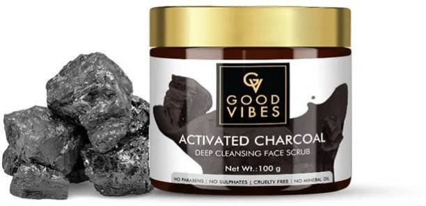 GOOD VIBES Deep Cleansing Face Scrub - Activated Charcoal Scrub