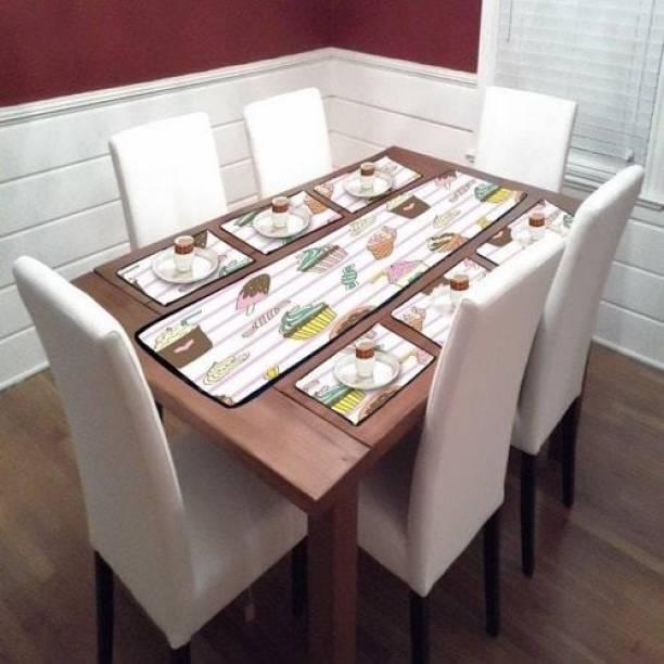 Darcen Multicolor PVC Table Linen Set