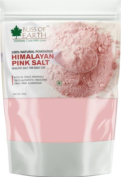 Bliss of Earth Himalayan Pink Salt for Healthy Cooking & Eating, 500GM Himalayan Pink Salt