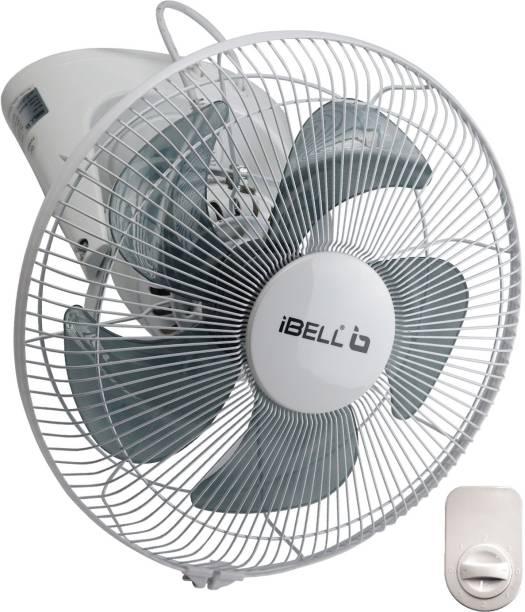 iBELL ORBIT05IBS High Speed 5 Leaf Orbit Hanging Wall Fan, 100% Full Copper, 3 Speed Control(White) 400 mm 5 Blade Wall Fan