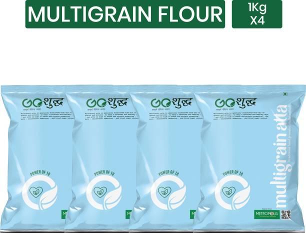 Goshudh Premium Quality Multigrain Flour / Multigrain Atta 1Kg Pack of 4