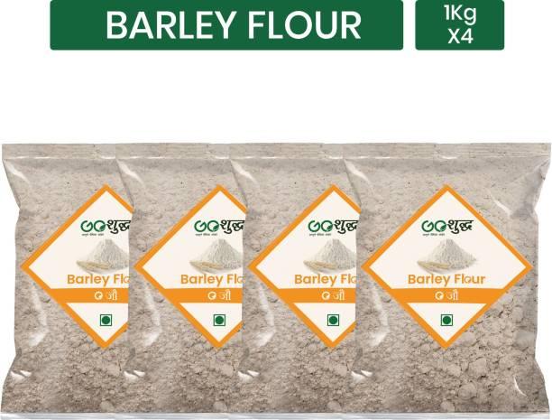 Goshudh Premium Quality Barley Flour / Jau Atta 1Kg Pack of 4