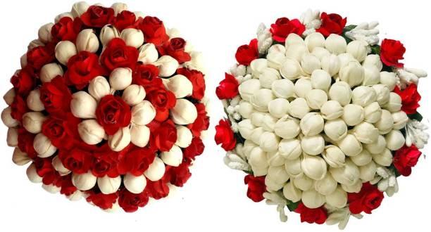 GadinFashion Bun Juda Maker Flower Gajra Hair Accessories For Women and Girls Multicolor Pack-02 Bun