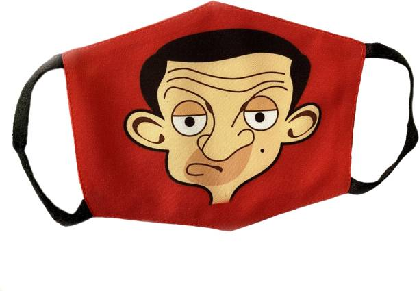 PNV Kraft 4 -10 Year Mr. Bean Kids Mask New Anti-Pollution Dust Cotton Mask For kids/Boys Washable Cloth Mask