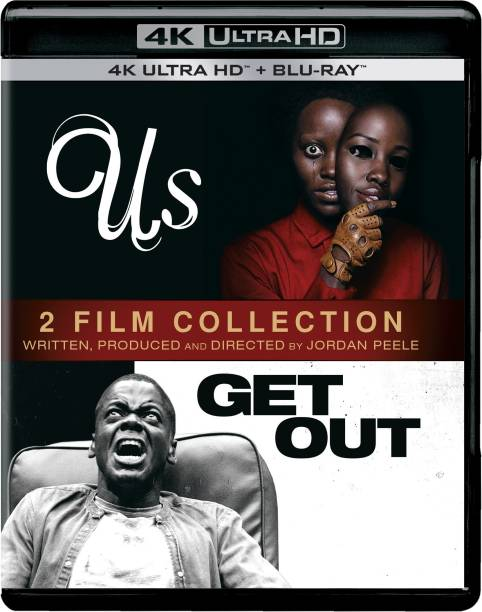 2 Horror Movies Collection: Us (2019) + Get Out (4K UHD & HD) (4-Disc Box Set) (Region Free)