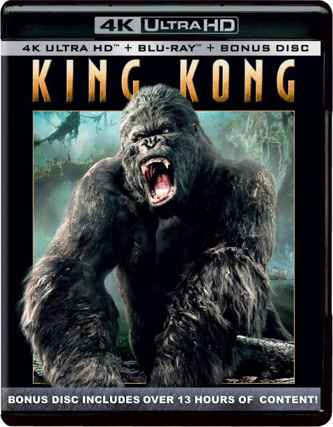 King Kong (2005) (4K UHD + Blu-ray + Bonus Disc) (3-Disc Ultimate Edition) (Includes Extended and Cinematic Versions)