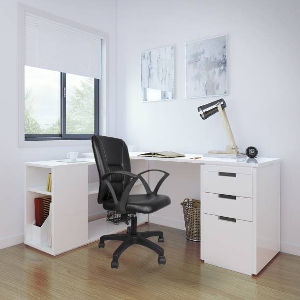 Flipkart Perfect Homes Leatherette Office Visitor Chair