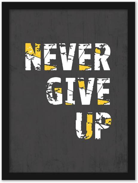 Motivational Quote Poster with Frame for Office Wall School Entrepreneur students Classroom and Home Decoration | Inspirational Quotes Posters for Gifting | Framed Wall Art for Living Room study room bed room | Motivational Wall Poster with Glass Frame Yellow and Grey Color Paper Print