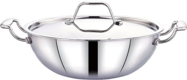 Maxima Stainless steel Triply Kadhai 26 cm with Lid