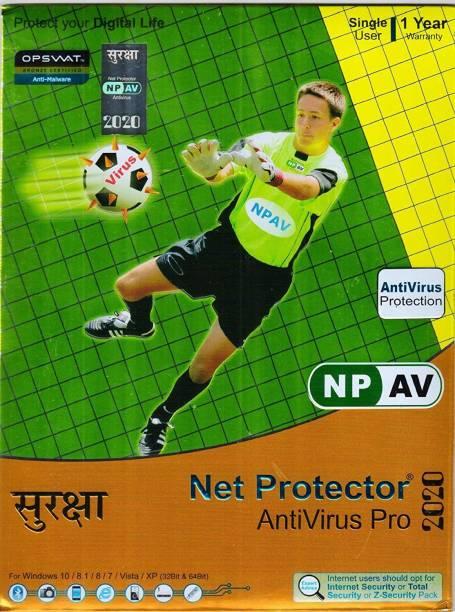 Net Protector AntiVirus (NPAV) Anti-virus 1 User 1 Year