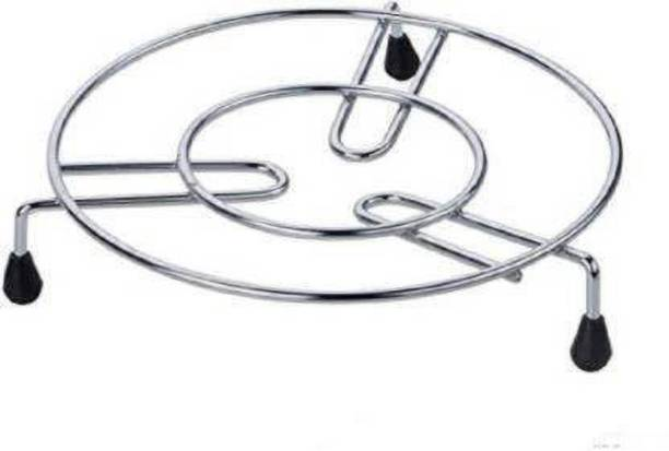 Premsakhi Kitchen Cooking Pot Steaming Tray Stand Round Cooker Steamer Rack Stand Glossy Trivet