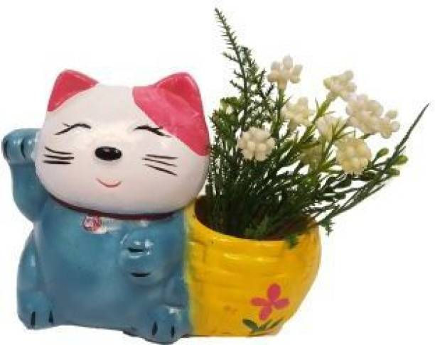 WONDERLAND kitty succulent succulent flower pot Polyresin Vase