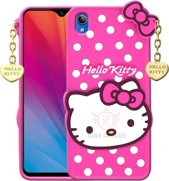 KING COVERS Back Cover for Vivo Y91i - Hello Kitty Case | 3D Cute Doll | Soft Girl Back Cover with Pendant