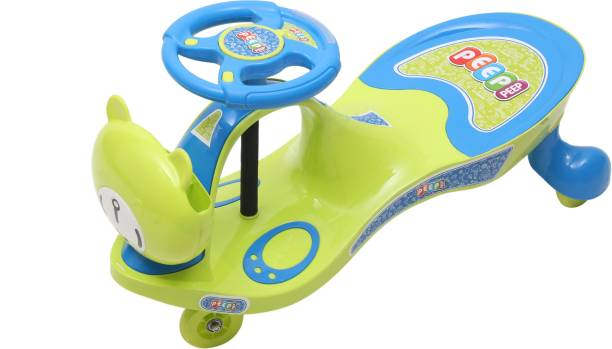 Young Wheels Scratch Free Twister Magic Swing Cars for Kids of Above 3 Years, Strongest & Smoothest Wheels with 120 Weight Capacity with Light and Sound Functions Rideons & Wagons Battery Operated Ride On