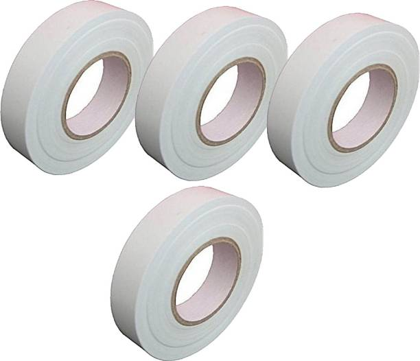 Rauma Plastic Polymer Tape Electric Tape_White_(Pack of 4)