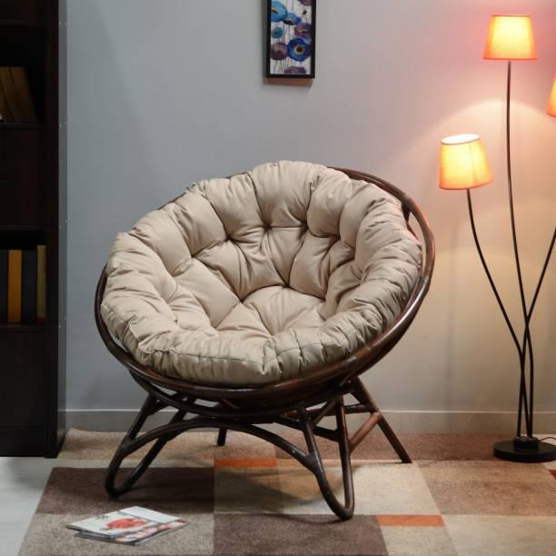 @home by Nilkamal Plush Cane Living Room Chair