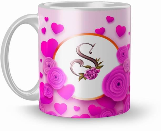 Earnam S Letter Coffee For Gift Ceramic Coffee Mug