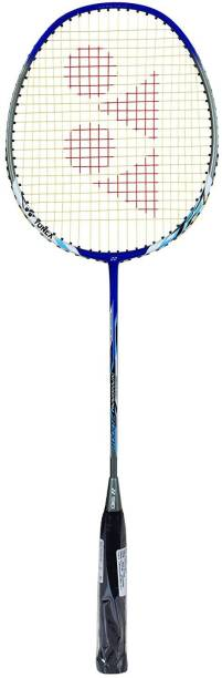 Yonex Nanoray 7000i Aluminum Alloy Strung Badminton Racquet  Blue  with Full Cover Blue Strung Badminton Racquet