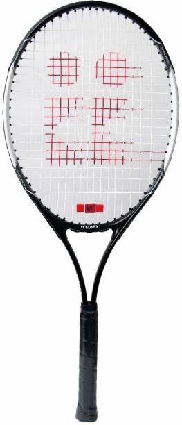 PROSPO GraphitePro Adult Aluminum Tennis Racket, 27-inch Black Strung Tennis Racquet
