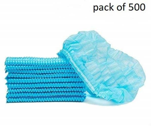 Etradezone Disposable Stretchable Blue Caps, Cover Hair For Cooking & Hygiene Surgical Head Cap Surgical Head Cap Surgical Head Cap