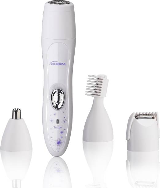 KUBRA KB-3020 Lady Shaver and Trimmer Set For Nose & Ear, Eyebrow and Hair Trimmer  Runtime: 60 min Grooming Kit for Women
