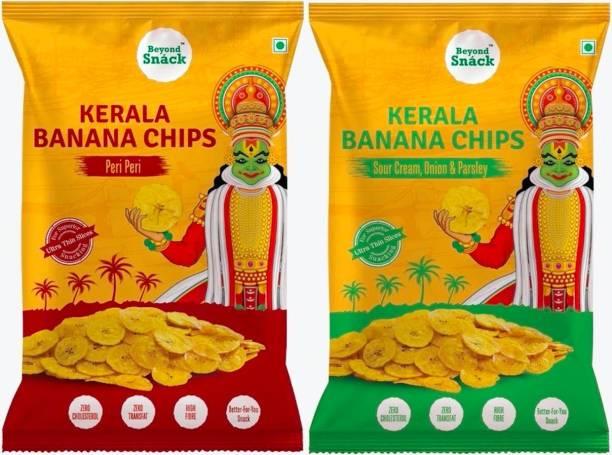 Beyond Snack Kerala Banana Chips Sour Cream Onion Parsley & Peri Peri Combo Chips