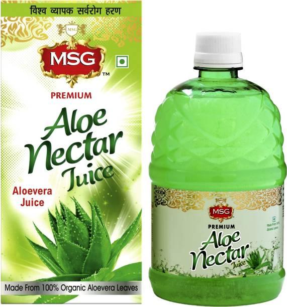 MSG AloeVera Juice (Made From 100% Organic Aloe Vera Leaves) (Pack of 12,Full Box)