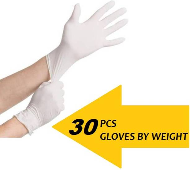 INENCE Disposable Nitrile Gloves Hand Protection Rubber Examination Glove for Hospital, Clinic, Sanitary & Kitchen (Pack of 30 by , Medium) Latex Examination Gloves