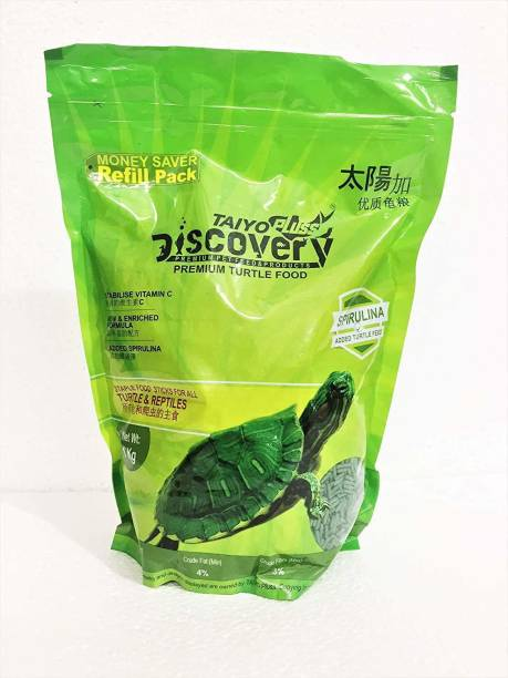 Taiyo Pluss Discovery TURTLE FOOD Fish 1 kg Dry Adult, Young, Senior Turtle Food