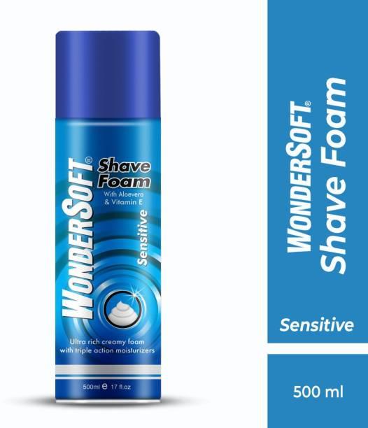 Wondersoft Shaving Foam Ultra rich creamy foam with Aloe Vera & Vitamin E