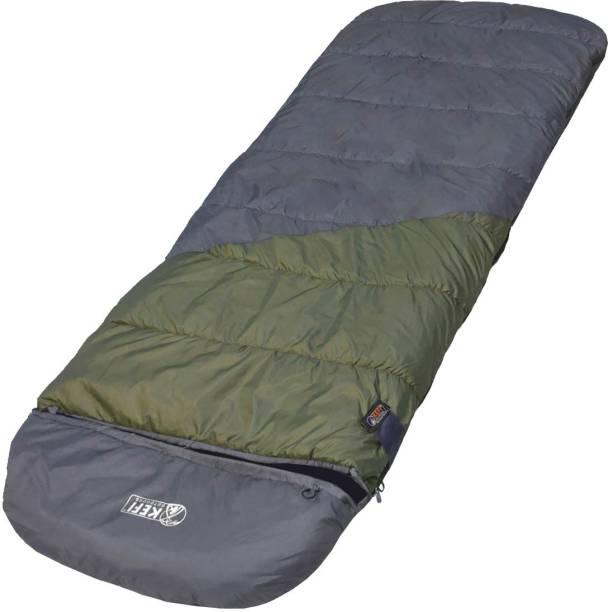 Kefi Outdoors Big Box Rectangular Sleeping Bag - Perfect for Camping, Travelling and Trekking Sleeping Bag