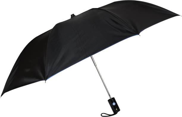 Fendo Jackson 2 Fold Blue Metallic Umbrella Umbrella