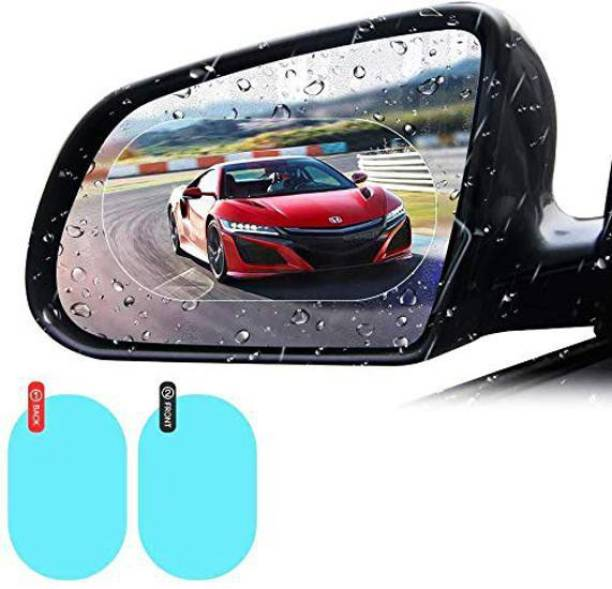 carempire Car Side View Mirror Waterproof Anti-Fog Film - Anti-Glare Anti-Mist Protector Sticker - to See Outside Rearview Mirror Clearly in Rainy Days (Oval) Car Mirror Rain Blocker
