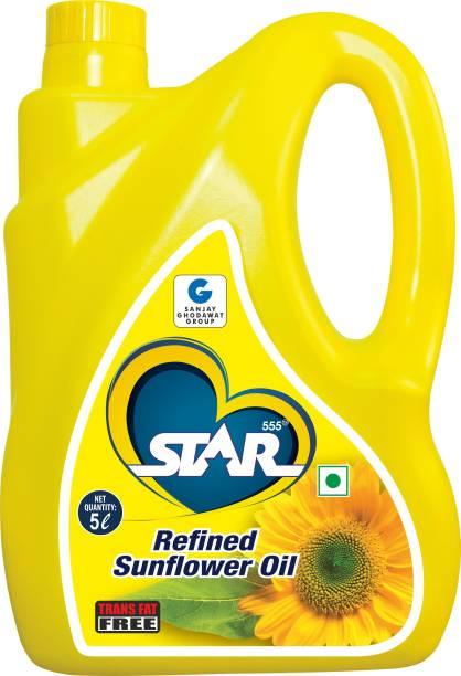 STAR 555 Refined Sunflower Oil, 5 Ltr Sunflower Oil Jar