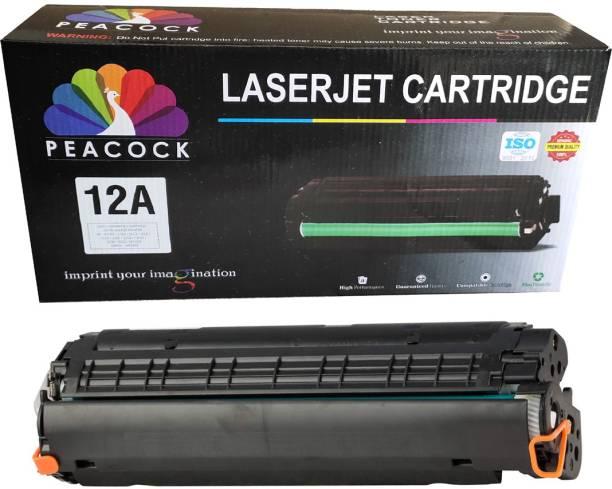 Peacock 12A Single Compatible Toner Cartridge USE IN M1005 / 1018 / 1020 / 1022 / 3015 / 3020 / 3030 / 3050 / 3052 / 3055 / M1120 / M1319 ETC. Black Ink Toner