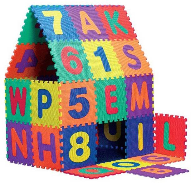 EGM Kids Puzzle 36 Tiles Educational Interlocking alphabet puzzle mat