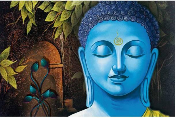 Craft Junction 6 MM MDF Lord Buddha Art Print Design Digital Reprint 8 inch x 12 inch Painting