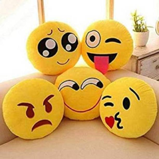 BLUEDOT Microfibre Smiley Cushion Pack of 5