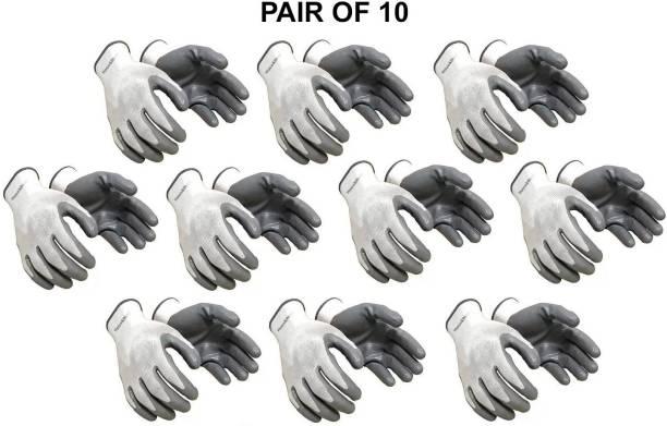 Home & Wrap Nylon Anti cut safety Hand Gloves (10) Nylon  Safety Gloves