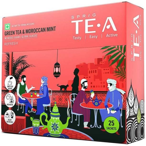 Sprig TE.A Gtea & Moroccan Mint Green Tea Box