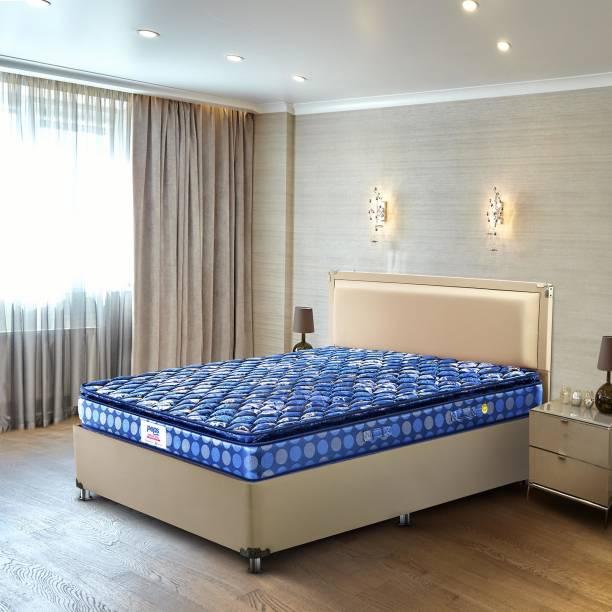 PEPS Springkoil Pillow Top Blue 10 inch King Bonnell Spring Mattress