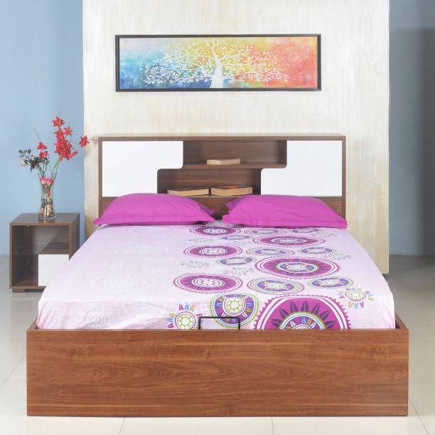 @Home by nilkamal Rubix Engineered Wood Queen Hydraulic Bed