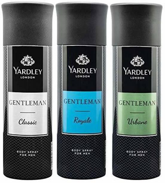 Yardley London Gentleman Classic,Gentleman Urbane,Gentleman Royale Deodorant Spray  -  For Men