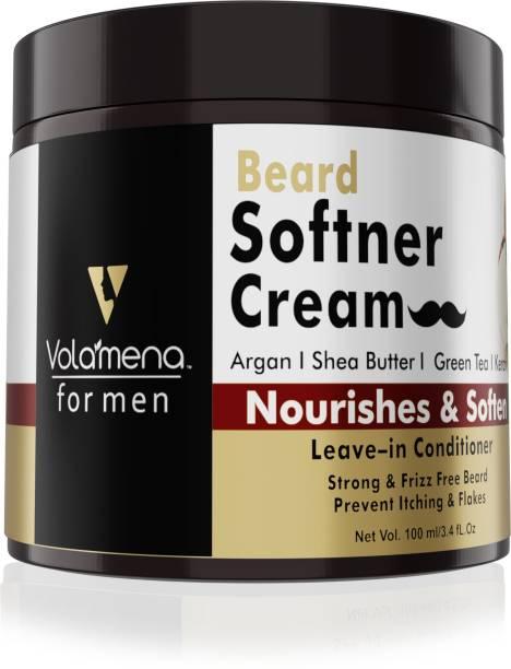 Volamena Beard Softener Shea Butter & Argan Cream for Men Beard Cream