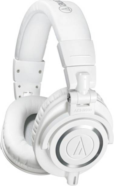 Audio Technica ATH-M50x Professional Monitor Headphones Wired without Mic Headset