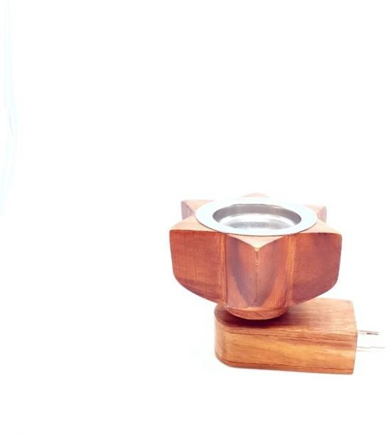 MDTL Mayukh Electric Wooden Plug Sesam Wooden Carving Work Aroma Oil Diffuser for Fragrance Direct Plug-in Incense Burner/Kapoor Wooden Incense Holder