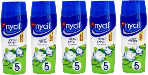 NYCIL Cool classic HERBAL GERM EXPERT PricklE Heat Powder PACK OF 5