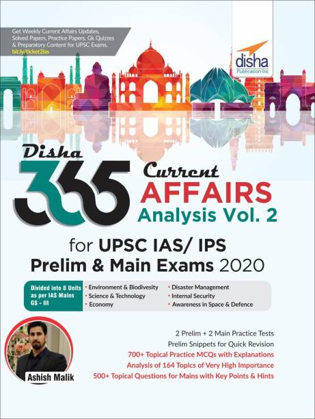 Disha 365 Current Affairs Analysis Vol. 2 for UPSC IAS/ IPS Prelim & Main Exams 2020