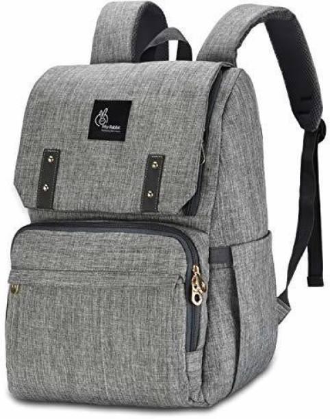 R for Rabbit Caramello Grand Back Pack Diaper Bags - Smart Waterproof Mother Bag (Grey) Diaper Bag